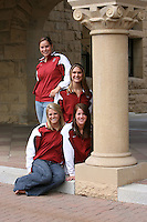 21 September 2007: Top Row (L-R): Elaine Breeden and Brooke Bishop. Bottom Row (L-R): Caroline Bruce and Julia Smit.