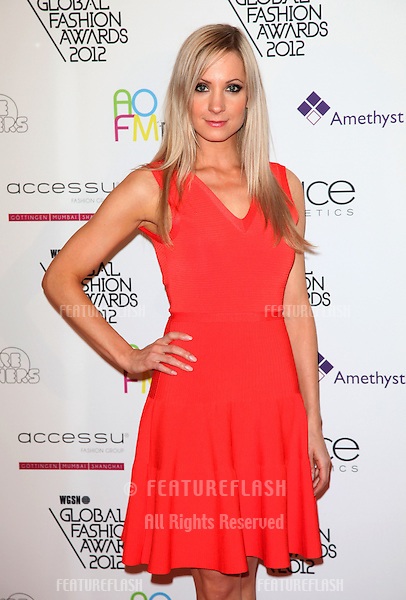 Joanne Froggatt arriving for the WGSN Global Fashion Awards at The Savoy Hotel, London. 05/11/2012 Picture by: Alexandra Glen / Featureflash