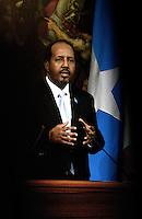 Roma, 18 Settembre 2013<br /> Palazzo Chigi<br /> Incontro tra il Presidente del Consiglio dei Ministri, Enrico Letta, e il Presidente della Repubblica Federale della Somalia, Hassan Sheikh Mohamud.<br /> Nella foto il Presidente somalo Hassan Sheikh Mohamud.