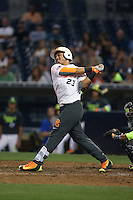 Mario Feliciano (23) of the East team bats during the 2015 Perfect Game All-American Classic at Petco Park on August 16, 2015 in San Diego, California. The East squad defeated the West, 3-1. (Larry Goren/Four Seam Images)