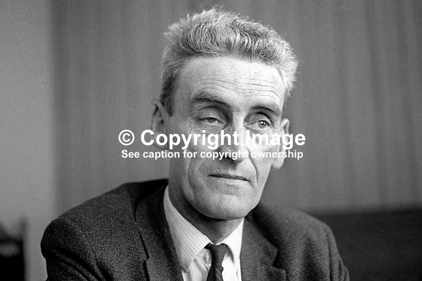 Hugh Murphy, Dundonald, Belfast, N Ireland, prominent member, Irish Communist Party. 197006000214<br /> <br /> Copyright Image from Victor Patterson, 54 Dorchester Park, Belfast, UK, BT9 6RJ<br /> <br /> t1: +44 28 9066 1296 (from Rep of Ireland 048 9066 1296)<br /> t2: +44 28 9002 2446 (from Rep of Ireland 048 9002 2446)<br /> m: +44 7802 353836<br /> <br /> e1: victorpatterson@me.com<br /> e2: victorpatterson@gmail.com<br /> <br /> The use of my copyright images is subject to my Terms &amp; Conditions.<br /> <br /> It is IMPORTANT that you familiarise yourself with them. They are available on my website at www.victorpatterson.com.<br /> <br /> None of my copyright images may be used on a website unless they are visibly watermarked, i.e. &copy; Victor Patterson within the body of the visible image. Metadata denoting my copyright must NOT be deleted. <br /> <br /> Web use (maximum size - 300 kb) is extra at currently recommended NUJ rates.