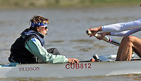 Putney, GREAT BRITAIN,  Tuesday Morning,  CUBC Cox Ed BOSSON, Cambridge Training Outing, Tideway week ,on the championship course. Putney/Mortlake, Tuesday   03/04/2012 [Mandatory Credit, Peter Spurrier/Intersport-images]