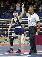 PHILADELPHIA, PA - NOVEMBER 18: of the Penn State Nittany Lions wrestles during a match at the Keystone Classic on November 18, 2018 at The Palestra on the campus of the University of Pennsylvania in Philadelphia, Pennsylvania. (Photo by Hunter Martin/Getty Images) *** Local Caption ***
