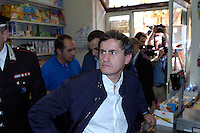 Rome May 25 2008.The mayor of Rome Gianni Alemanno   in visit to district Pigneto after yesterday assault of shops to some immigrants from part of a group of italians.
