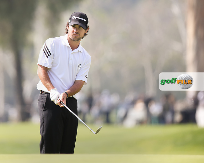 15 FEB 13 Brian Harman on the 8th green during Saturday's Third Round of The Northern Trust Open at Riviera Country Club in Pacific Palisades,California. photo credit :  (kenneth e. dennis/kendennisphoto.com)