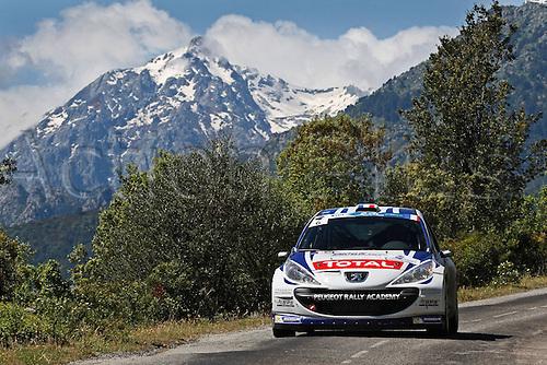 17.05.2013. Corsica.   Jeremi Ancian FRA Gilles de Turckheim FRA Peugeot 207 S2000 Automobiles Rally Tour de Corse , Rallye de France.