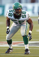Shonte Peoples Saskatchewan Roughriders 2003. Photo copyright Scott Grant.