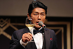 """May 20, 2016, Tokyo, Japan - Japanese actor Katsunori Takahashi toasts for the opening of """"Aperitif 365"""" event in Tokyo on Friday, May 20, 2016. Thousands of visitors are expecting to enjoy aperitifs and hors d'oeuvres at the three-day event for the promotion of French foods and drinks.  (Photo by Yoshio Tsunoda/AFLO) LWX -ytd-"""