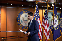 Speaker of the House of Representatives Paul Ryan, Republican of Wisconsin, speaks with reporters during his weekly press conference on Capitol Hill in Washington, DC on June 7, 2018. <br /> CAP/MPI/RS<br /> &copy;RS/MPI/Capital Pictures