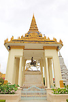 Equestrian Statue Of King Norodom Royal Palace In Phnom Penh