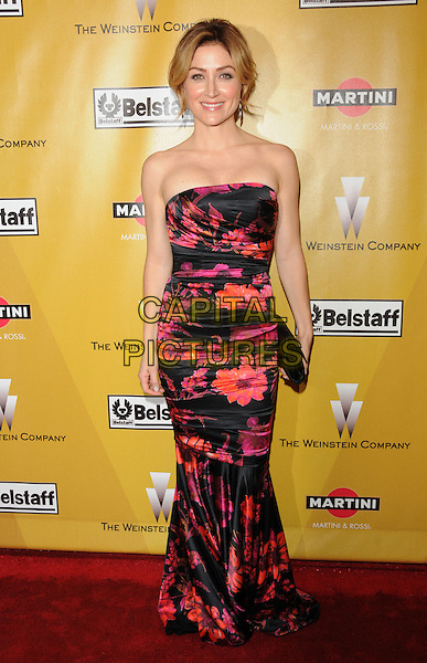 SASHA ALEXANDER .At Weinstein Company Post Golden Globe Party held at Bar210 & Plush Ultra Lounge in Beverly Hills, California, USA. January 17th, 2010                                                                   globes full length black red orange floral print dress clutch bag strapless.CAP/DVS.©Debbie VanStory/Capital Pictures