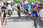 Enric Mas Nicolau (ESP) Quick-Step Floors attacks on the final climb during Stage 13 of the La Vuelta 2018, running 174.8km from Candas, Carreno to Valle de Sabero, La Camperona, Spain. 7th September 2018.<br /> Picture: Unipublic/Photogomezsport | Cyclefile<br /> <br /> <br /> All photos usage must carry mandatory copyright credit (&copy; Cyclefile | Unipublic/Photogomezsport)
