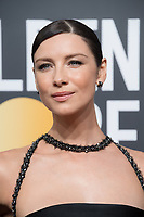 Actor Caitriona Balfe attends the 75th Annual Golden Globes Awards at the Beverly Hilton in Beverly Hills, CA on Sunday, January 7, 2018.<br /> *Editorial Use Only*<br /> CAP/PLF/HFPA<br /> &copy;HFPA/Capital Pictures