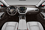 Stock photo of straight dashboard view of a 2018 Chevrolet Malibu Premier 4 Door Sedan