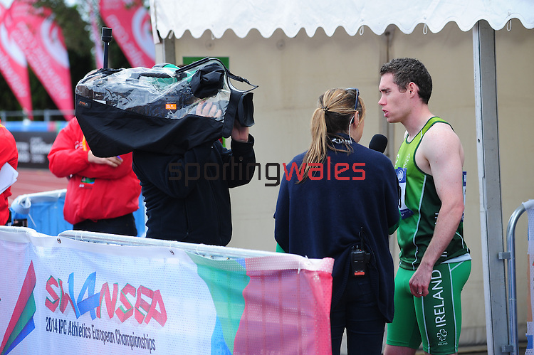 IPC European Athletics Championship 2014<br /> Swansea University<br /> <br /> Jason Smyth - men's 200m T12<br /> <br /> 21.08.14<br /> Chris Vaughan-SPORTINGWALES