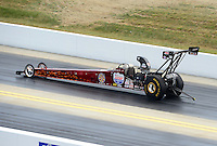Apr. 14, 2012; Concord, NC, USA: NHRA top alcohol dragster driver Chase Copeland during qualifying for the Four Wide Nationals at zMax Dragway. Mandatory Credit: Mark J. Rebilas-