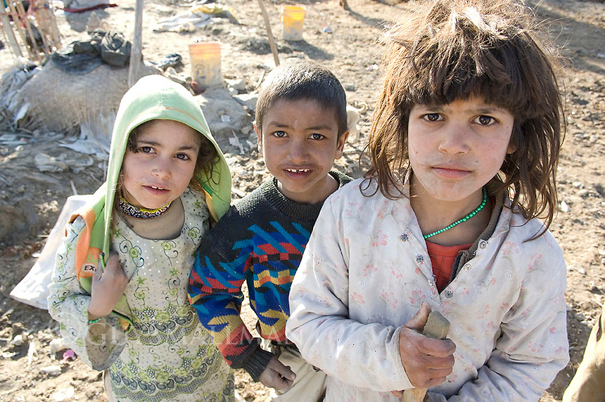 Refugee camp in district 2 of Kabul Afghanistan. The refugees were from Afghanistan and had fled to Pakistan during the Taleban government. They had arrived from Pakistan after the overthrow of the Taleban hoping for a better life. They were living in squalid conditions without any work and with little hope for the future.