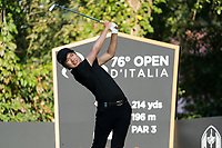 Jeunghun Wang (KOR) in action on the 2nd hole during the third round of the 76 Open D'Italia, Olgiata Golf Club, Rome, Rome, Italy. 12/10/19.<br /> Picture Stefano Di Maria / Golffile.ie<br /> <br /> All photo usage must carry mandatory copyright credit (© Golffile | Stefano Di Maria)