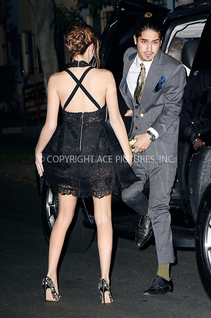 ACEPIXS.COM<br /> <br /> February 17 2015, LA<br /> <br /> Actors Avan Jogia (R) and Zoey Deutch arriving at the Vanity Fair and Fiat Toast to 'Young Hollywood' in support of the Terrence Higgins Trust at No Vacancy on February 17, 2015 in Los Angeles, California.<br /> <br /> <br /> By Line: Nancy Rivera/ACE Pictures<br /> <br /> ACE Pictures, Inc.<br /> www.acepixs.com<br /> Email: info@acepixs.com<br /> Tel: 646 769 0430