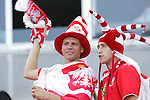 12 July 2007: Poland fans. Argentina's Under-20 Men's National Team defeated Poland's Under-20 Men's National Team 3-1 in a  round of 16 match at the National Soccer Stadium (also known as BMO Field) in Toronto, Ontario, Canada during the FIFA U-20 World Cup Canada 2007 tournament.