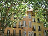 Plane trees shade Aix-en-Provence