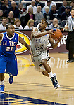 March 3, 2012:   Nevada Wolf Packs Deonte Burton drives the lane against the Louisiana Tech Bulldogs during their NCAA basketball game played at Lawlor Events Center on Saturday night in Reno, Nevada.