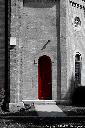 St. Peter Luthern Church in Schaumburg, Red Door To The Apse