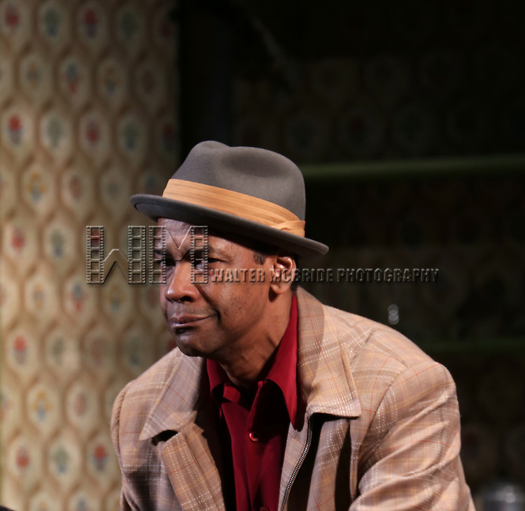 "Denzel Washngton during the Broadway Opening Night Curtain Call for  ""A Raisin In The Sun""  at the Barrymore Theatre on April 3, 2014 in New York City."