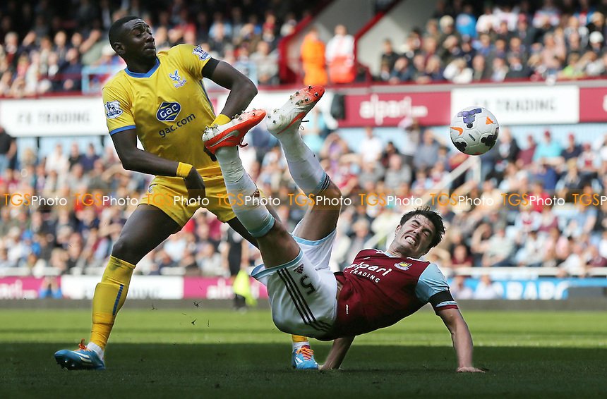 James Tomkins of West Ham attempts an overhead kick - West Ham United vs Crystal Palace, Barclays Premier League at Upton Park, West Ham, London - 19/04/14 - MANDATORY CREDIT: Rob Newell/TGSPHOTO - Self billing applies where appropriate - 0845 094 6026 - contact@tgsphoto.co.uk - NO UNPAID USE