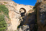 Puente Viejo pedestrian bridge built 1616, Ronda, Spain