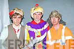 Breandan Cabell, Tralee, Ian Mac Aimhlaoibh Lixnaw and Pat O'Connor Knocknagoshel at the Knocknagoshel Halloween celebrations on Sunday night..
