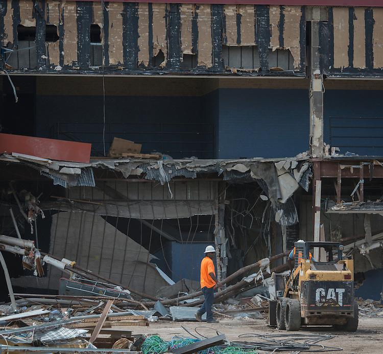 Milby High School demolition, August 26, 2014.