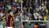 Calcio, Serie A: Frosinone vs Roma. Frosinone, stadio Comunale, 12 settembre 2015.<br /> Roma&rsquo;s Juan Iturbe celebrates after scoring during the Italian Serie A football match between Frosinone and Roma at Frosinone Comunale stadium, 12 September 2015. Roma won 2-0.<br /> UPDATE IMAGES PRESS/Isabella Bonotto