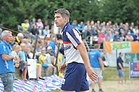 FIERLJEPPEN: WINSUM: Accommodatie St. Japik, 13-08-2016, FK Fierljeppen, Oane Galama, ©foto Martin de Jong