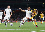 Arsenal's Alexis Sanchez fires in a shot during the Champions League group A match at the Emirates Stadium, London. Picture date September 28th, 2016 Pic David Klein/Sportimage
