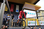Nacer Bouhanni (FRA) Cofidis at sign on in Dusseldorf before the start of Stage 2 of the 104th edition of the Tour de France 2017, running 203.5km from Dusseldorf, Germany to Liege, Belgium. 2nd July 2017.<br /> Picture: Eoin Clarke | Cyclefile<br /> <br /> <br /> All photos usage must carry mandatory copyright credit (&copy; Cyclefile | Eoin Clarke)