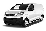 2016 Peugeot Expert Premium 4 Door Cargo Van Angular Front stock photos of front three quarter view