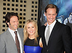 "HOLLYWOOD, CA. - June 08: (L-R) Actors Stephen Moyer, Anna Paquin and Alexander Skarsgard arrive at HBO's ""True Blood"" Season 3 Premiere at ArcLight Cinemas Cinerama Dome on June 8, 2010 in Hollywood, California."