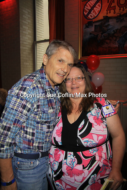 Jay Hammer with Vikki - Guiding Light 75th Anniversary Brunch to benefit The American Cancer Society on October 7, 2012 at Bowlmor Lanes Times Square, New York City, New York.  (Photo by Sue Coflin/Max Photos)