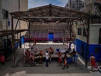 HAVANA, CUBA - JUNE 15: Cubans boxers train at a boxing gymnasium in Old Havana, Habana Vieja on June 15, 2015 in Havana, Cuba. <br /> Daniel Berehulak for Panasonic/Lumix