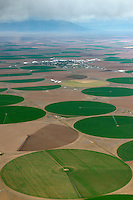Crop circles, San Luis Valley, Colorado. June 2013