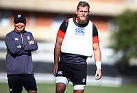 Brad Shields (Hurricanes/ Wasps) during the England Rugby training session at  Jonsson Kings Park Stadium,Durban.South Africa. 05,06,2018 Photo by Steve Haag)
