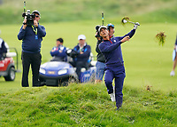 Thorbjorn Olesen (Team Europe) on the 5th during the friday fourballs at the Ryder Cup, Le Golf National, Iles-de-France, France. 27/09/2018.<br /> Picture Fran Caffrey / Golffile.ie<br /> <br /> All photo usage must carry mandatory copyright credit (© Golffile | Fran Caffrey)