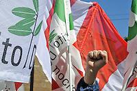 - Milano, manifestazione del 25 aprile, anniversario della Liberazione, Partito Democratico<br /> <br /> - Milan, demonstration of April 25, anniversary of Italy's Liberation, Democratic Party