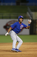 Kevonte Mitchell #15 of the AZL Cubs during a game against the AZL Rangers at Surprise Stadium on July 6, 2014 in Surprise, Arizona. AZL Rangers defeated the AZL Cubs, 7-5. (Larry Goren/Four Seam Images)