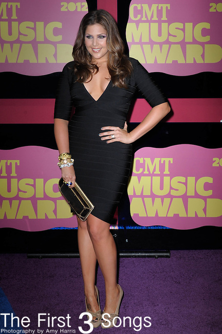 Hillary Scott of Lady Antebellum attends the 11th Annual CMT Awards in Nashville, TN on June 6, 2012.