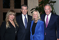 BEVERLY HILLS, CA - MAY 30: Daphna Edwards Ziman, Pierce Brosnan, Senator Ed Markey, Guest, at Reception Honoring Massachusetts Senator Ed Markey Hosted by Keely &amp; Pierce Brosnan and Daphna Edwards Ziman at Private Residence in Beverly Hills, California on May 30, 2018. <br /> CAP/MPIFS<br /> &copy;MPIFS/Capital Pictures
