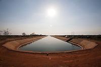 Jaiba_MG, Brazil.<br /> <br /> O canal principal de irrigacao do Projeto Jaiba. Agua puxada 50km abaixo do Rio Sao Francisco em Jaiba, Minas Gerais.<br /> <br /> The main canal irrigation Jaiba project. Water drawn 50km below the  Sao Francisco river in Jaiba, Minas Gerais.<br /> <br /> Foto: LEO DRUMOND / NITRO