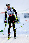 04/01/2014, Val Di Fiemme - 2014 Cross Country Ski World Cup Tour de ski <br /> Aurore JEAN (FRA) in action during the Women 5 km Classic Individual in Val Di Fiemme, Italy on 04/01/2014.<br /> <br /> &copy; Pierre Teyssot