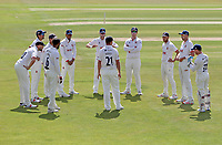 Tom Westley of Essex leads the Essex team huddle during Essex CCC vs Kent CCC, Bob Willis Trophy Cricket at The Cloudfm County Ground on 1st August 2020
